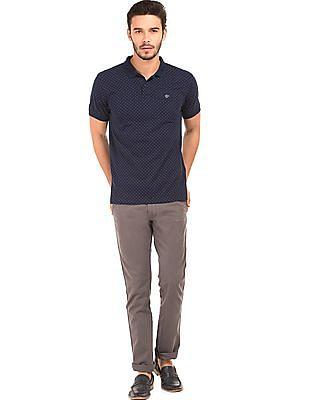 Ruggers Dot Print Pique Polo Shirt