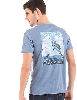 Nautica Slim Fit Printed Back T-Shirt