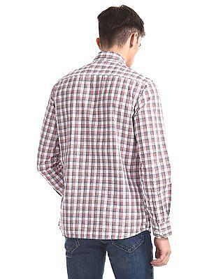 Arrow Sports Red Check Regular Fit Shirt