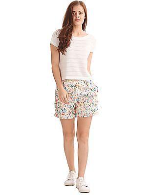 Elle Slim Fit Printed Shorts