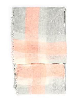 SUGR Fringed Striped Stole