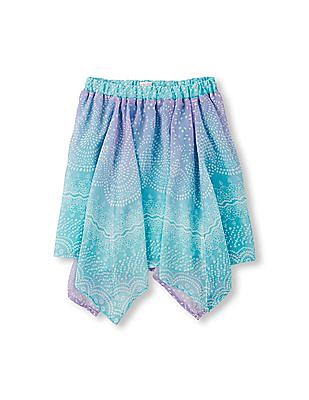 The Children's Place Girls Blue Printed Hanky Skirt