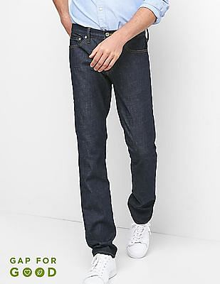 GAP Men Blue Stone Washed Skinny Fit Jeans