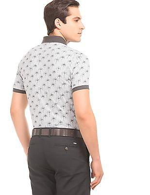 Arrow Sports Contrast Trim Printed Polo Shirt