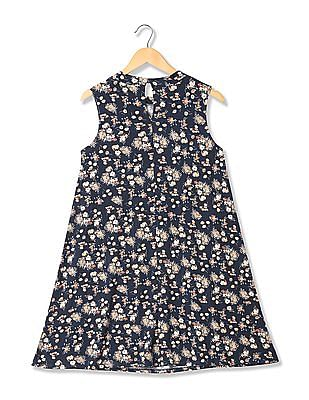 U.S. Polo Assn. Women Floral Print A-Line Dress