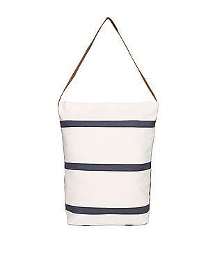 SUGR Striped Canvas Tote Bag