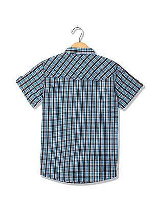 Cherokee Boys Checked Short Sleeve Shirt