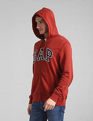 GAP Red Hooded Logo Sweatshirt
