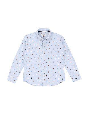 U.S. Polo Assn. Kids Boys Printed Oxford Shirt