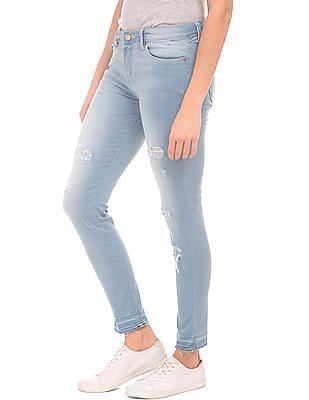 Aeropostale Stone Wash Ripped Jeans