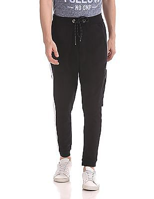 Flying Machine Contrast Stripe Drawstring Waist Joggers