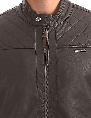 U.S. Polo Assn. Denim Co. Quilted Panel Biker Jacket