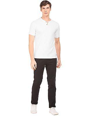 Cherokee Textured Henley T-Shirt