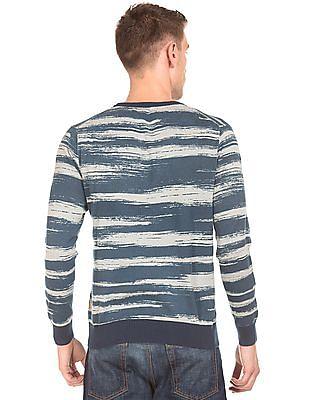 Flying Machine Printed Round Neck Sweater