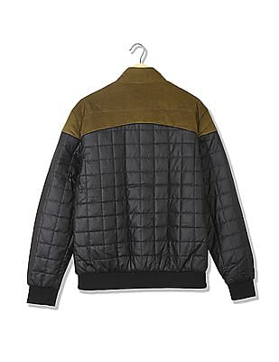 Arrow Sports Quilted Colour Blocked Jacket