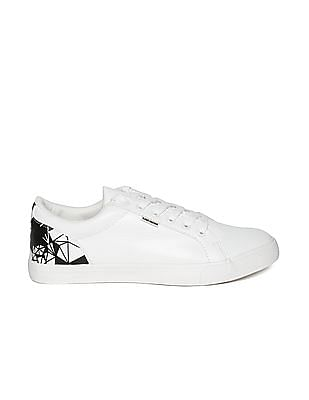 Flying Machine Printed Overlay Low Top Sneakers