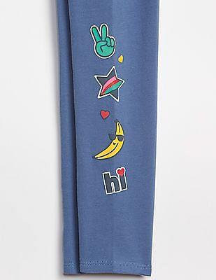 GAP Girls Jersey Print Leggings