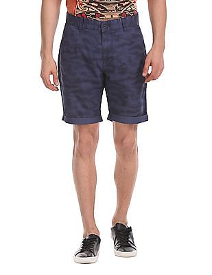 Flying Machine Super Slim Fit Printed Shorts