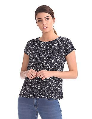 Elle Studio Printed Boxy Top