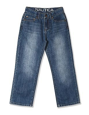 Nautica Kids Boys Slim Straight Washed Jeans