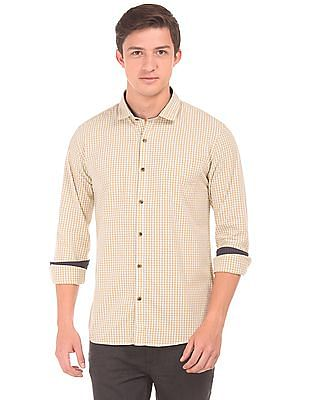 Roots by Ruggers Regular Fit Gingham Shirt