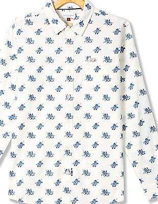 U.S. Polo Assn. Kids Boys Cotton Printed Shirt