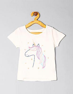 GAP Toddler Girl Short Sleeve Graphic T-Shirt