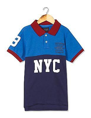 Cherokee Boys Colour Blocked Polo Shirt