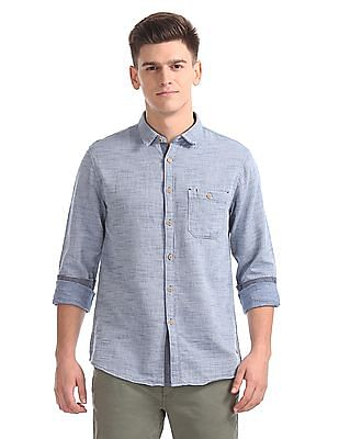 Cherokee Contemporary Fit Heathered Shirt