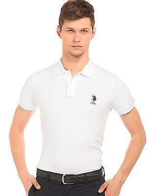 U.S. Polo Assn. Slim Fit Cotton Pique Polo Shirt