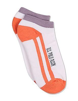 U.S. Polo Assn. Women Striped Ankle Socks