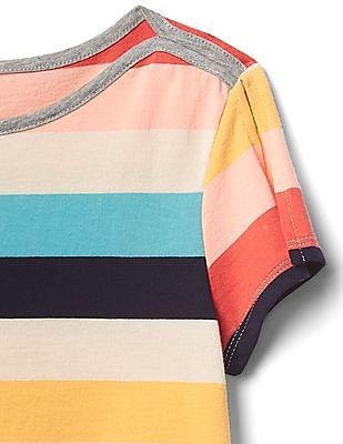 GAP Girls Stripe Split-Sleeve Tee