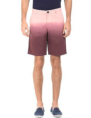 Flying Machine Dip Dyed Cotton Shorts