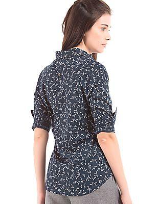U.S. Polo Assn. Women Floral Print Regular Fit Shirt