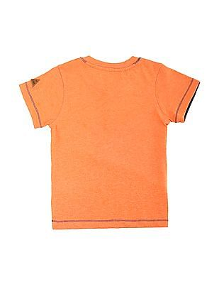 Cherokee Boys Panelled Henley T-Shirt