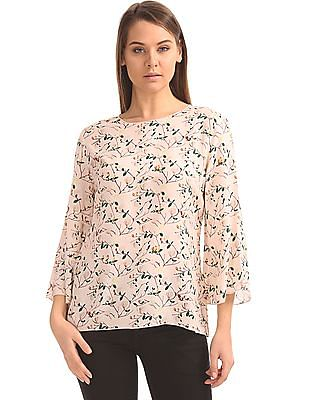 Arrow Woman Floral Print Viscose Top
