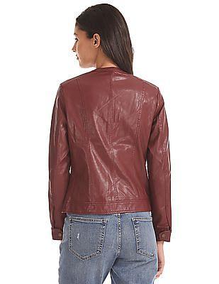 U.S. Polo Assn. Women Panelled Solid Biker Jacket