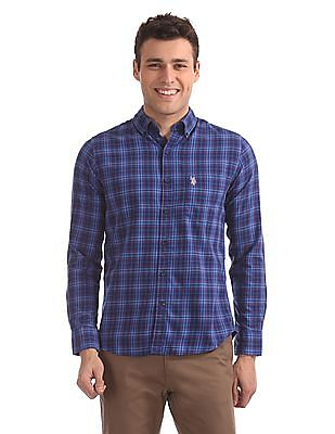 U.S. Polo Assn. Button-Down Collar Check Shirt
