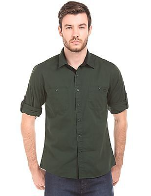 Colt Solid Regular Fit Shirt