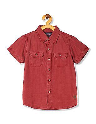 Cherokee Boys Solid Short Sleeve Shirt