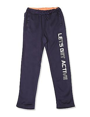 Cherokee Blue Boys Printed Active Track Pants