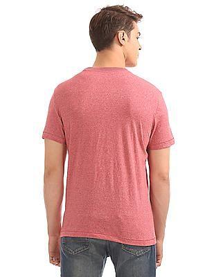 Aeropostale Embossed Branding Heathered T-Shirt