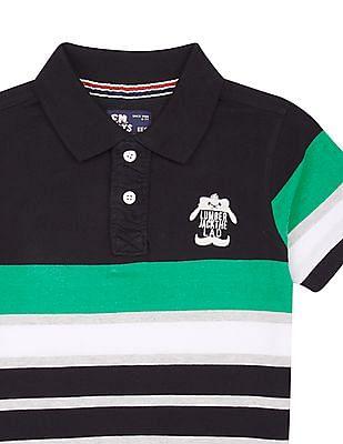 FM Boys Boys Slim Fit Striped Polo Shirt