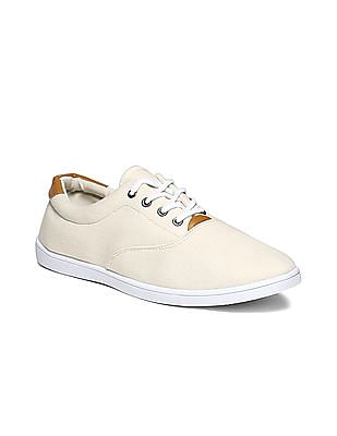 Colt Beige Round Toe Canvas Sneakers