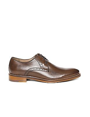 Johnston & Murphy Burnished Leather Derby Shoes