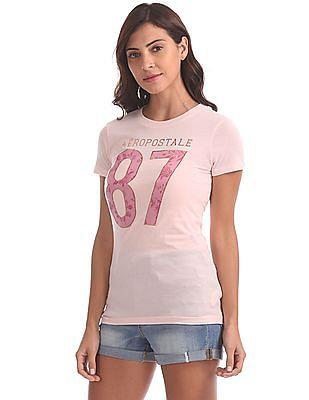 Aeropostale Applique Crew Neck T-Shirt
