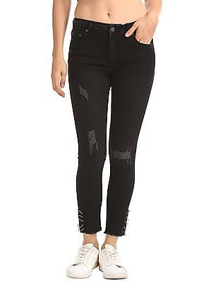 SUGR Skinny Fit mid Rise Jeans