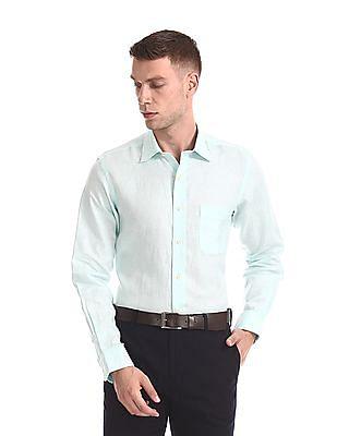 Arrow French Placket Irish Linen Shirt