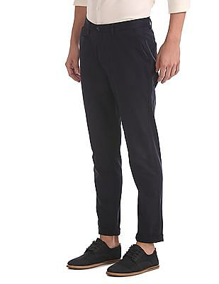 Roots by Ruggers Slim Fit Solid Trousers