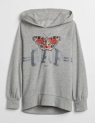 GAP Girls Logo Slouchy Hoodie Sweatshirt